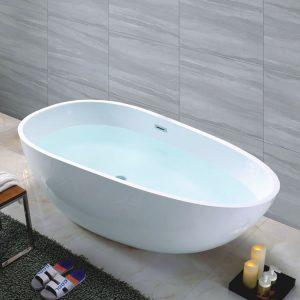 "70""Acrylic Freestanding Tub,Egg Shape  C6203B"