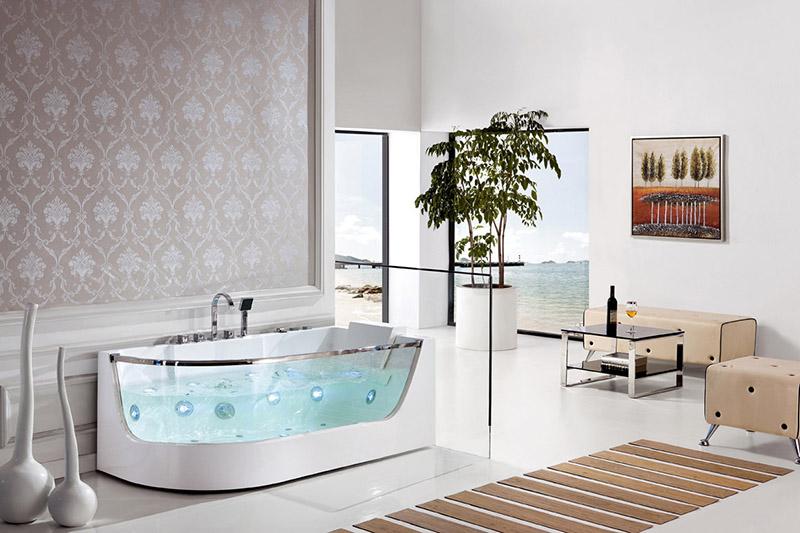 Glass Corner Bathtub