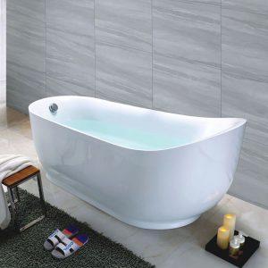 "63""Ergonomic Design Acrylic Soaking Tub C6208"