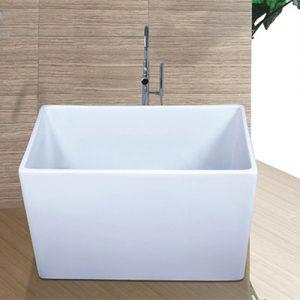 "47""Acrylic Rectangular Small Freestanding Tub  C6014"