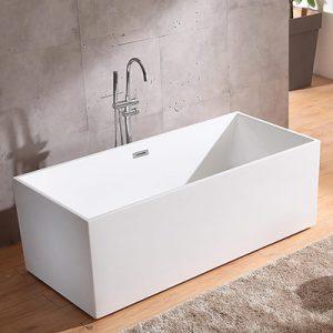 "67"" Rectangular Freestanding Tub Modern Seamless Acrylic Bathtub  CT-1851"