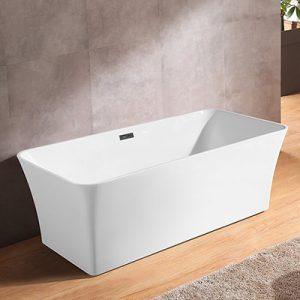 Bathing Tub,62 Inch Acrylic Soaking Tub with Overflow  CT-1853