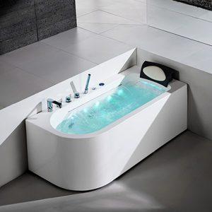 Corner Whirlpool Bath,67 Inch Hot Bath Tub with Bubbles Massage   K606C(L/R)