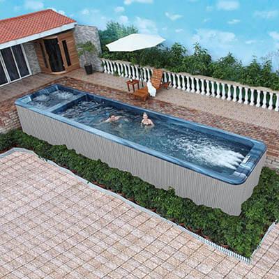 Above Ground Endless Pool,Jacuzzi Luxury Swim Spa Hot Tub Combo  KS-10