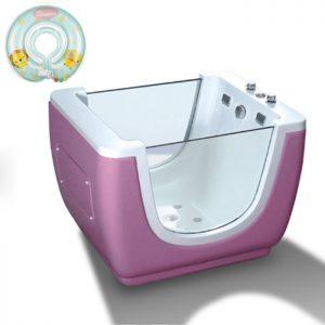 Baby Spa Tub,43 Inch European Style Baby Girl Bath Tub,Pink  K-531A