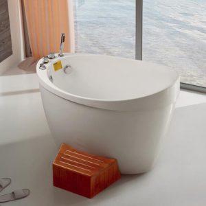 Freestanding Corner Tub,Small Round Bathtub K-695