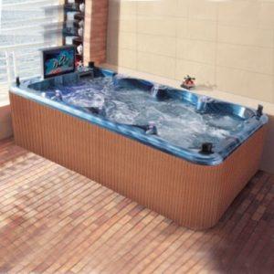 Fiberglass Swimming Pools,Acrylic 8 Person Hot Tub Swim Spa for Sale  KS-03