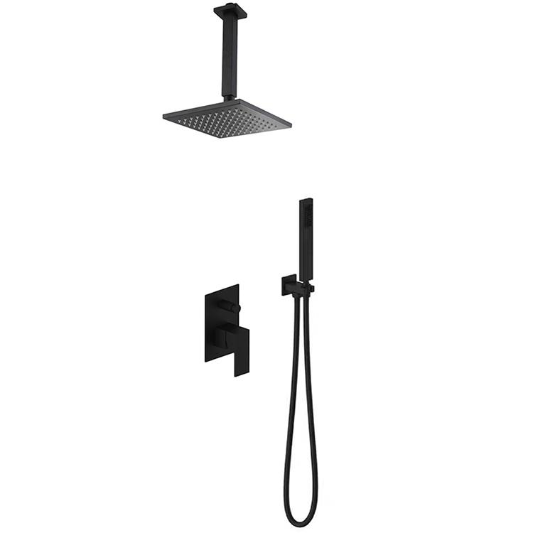Concealed shower mixer diverter
