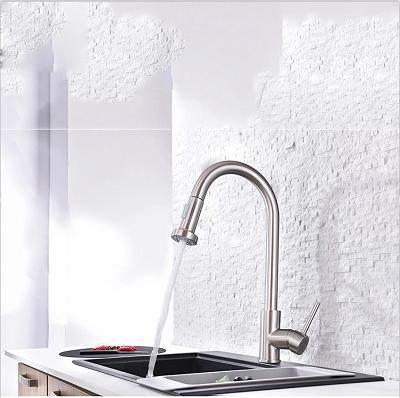 Brushed Nickel Single Hole Kitchen Faucet