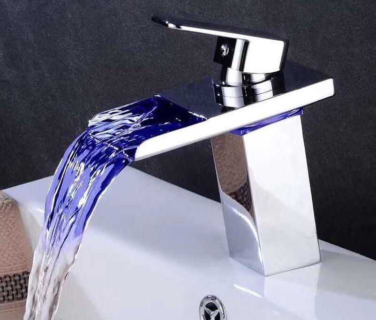 waterfall bathroom taps