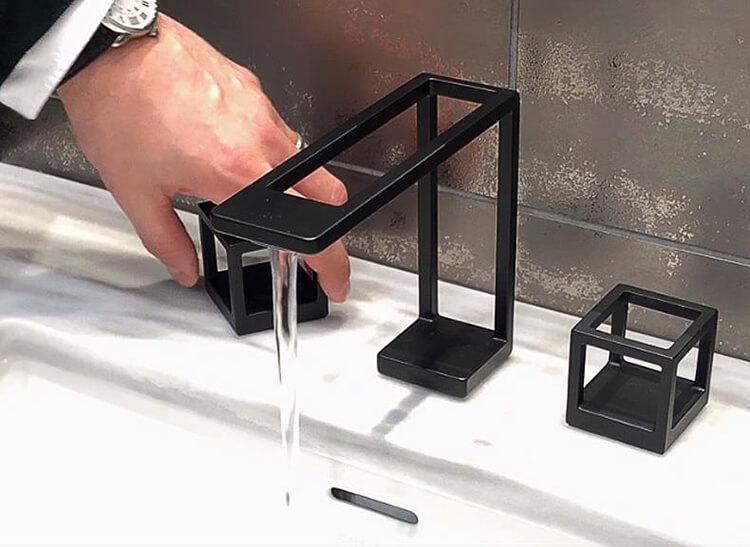 Black Basin Faucet Deck Mount