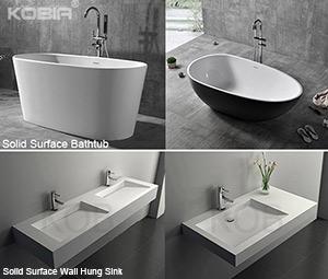 A Modern Bathroom Deserve A Stone Resin Bath Tub & Sink