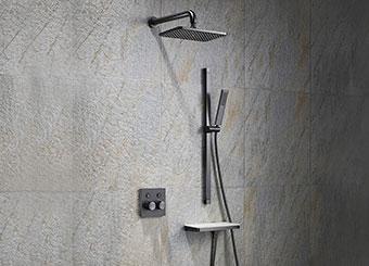 High-End Concealed Rain Shower System, Industrial Style Rain Shower Set