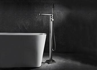 Industrial Freestanding Tub Faucet Manufacturer Push Bottom Floor Mount Tub Filler