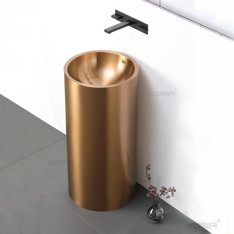 Bathroom Stainless Steel PedestalSink