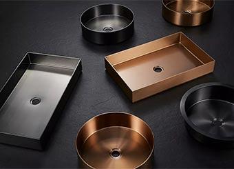 Stainless Steel Hand Wash Basin Metal Bathroom Countertop Sink Bowl  CS-004