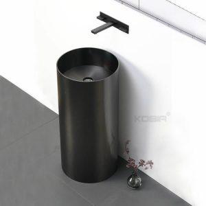 European Design Stainless Steel Pedestal Sink Commercial Laundry Sink Hand Wash Basin CS-013