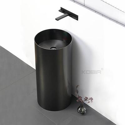 Floor standing column basin