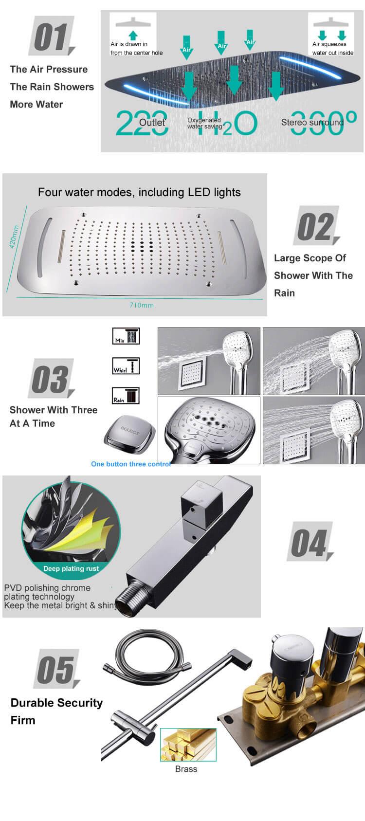 Bathroom Concealed Shower Set