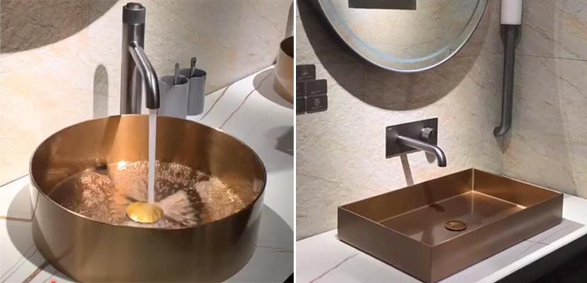 stainless steel bathroom sink bowl