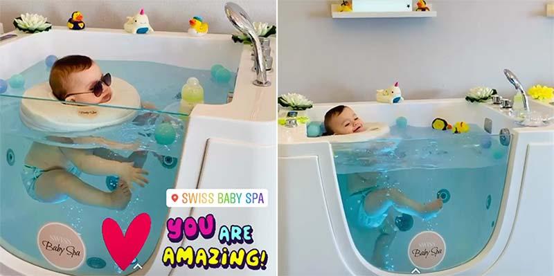 hot baby spa tub