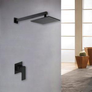 Black Concealed Shower Mixer Shower valve