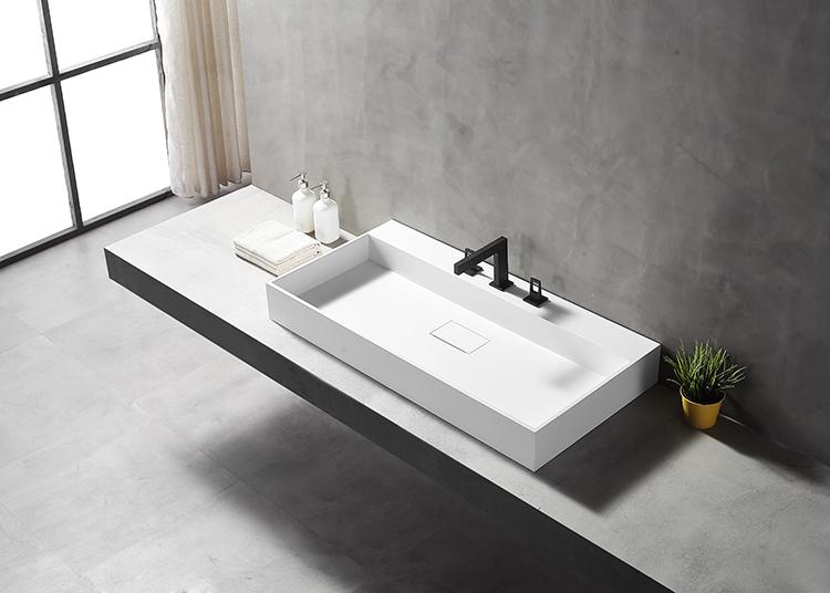 Handmade Matte Stone Vessel Sink