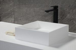 Solid Surface Rectangular Bathroom Sink,Matt Stone Vessel basin