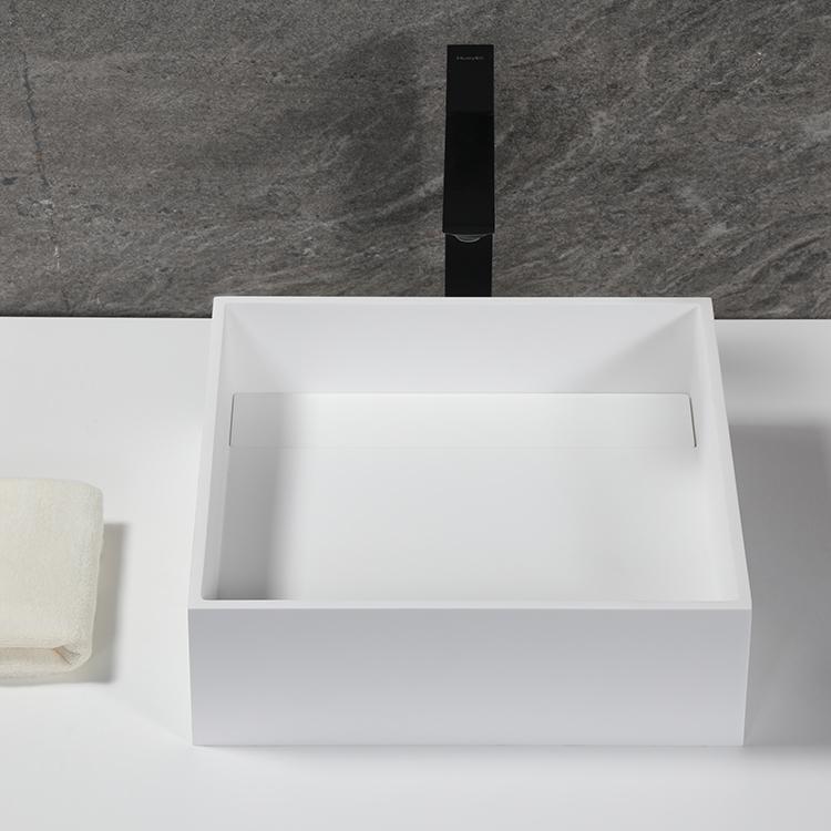 Stone Resin Countertop bathroom Sink