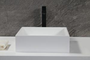 Matte Stone Vessel Bathroom Sink,PMMA Solid Surface