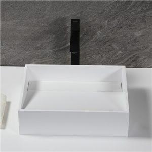Handmade Matte Stone Vessel Sink Set With Vessel Faucet