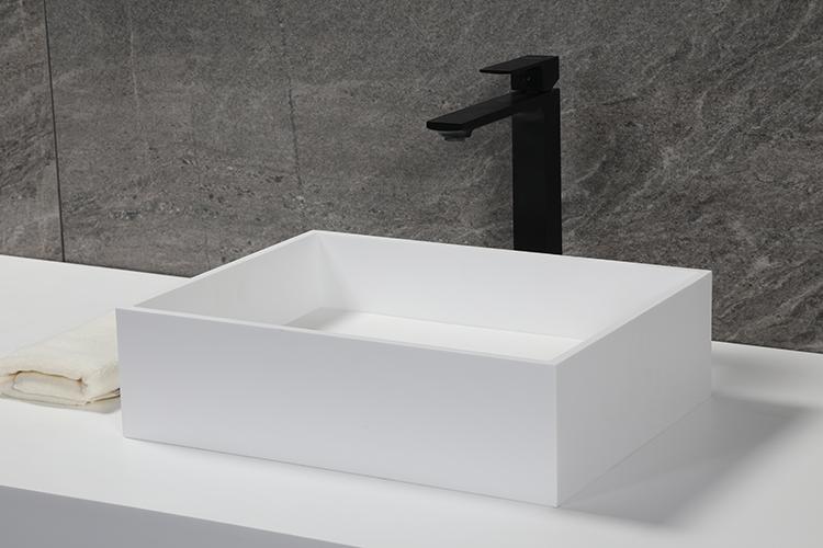 Matte Stone Vessel Bathroom Sink