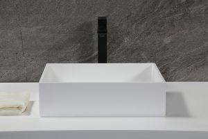 Solid Surface washing basin design White Basin Sink,15″ Standard