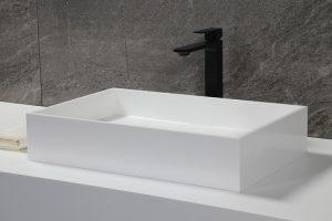 Stone Resin Countertop bathroom Sink, Matte