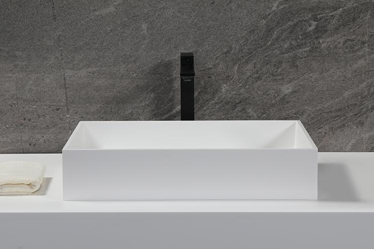 Natural Matt solid surface bathroom sink