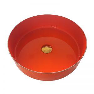 Enamelware Basin Bathroom Steel Wash Bowl Colorful Bucket Vessel Sink